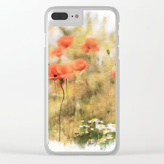 Poppy meadow -  photoadaption Clear iPhone Case