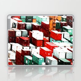 Mint Red Shipping Containers  Laptop & iPad Skin