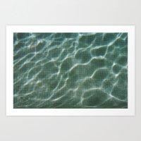 pool Art Prints featuring Pool by Marta Bocos
