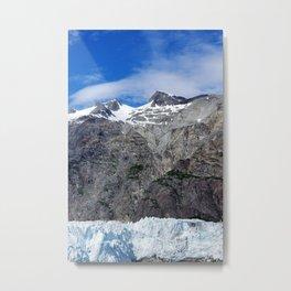 Blue Skies Over Alaskan Mountains and Glaciers Metal Print