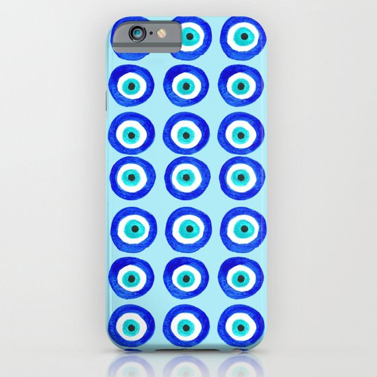 Evil Eye Talisman - on turquoise iPhone & iPod Case