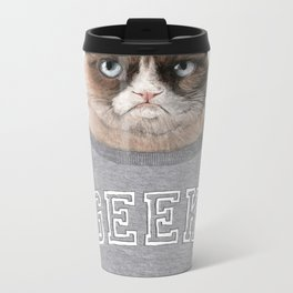 Grumpy Cat Metal Travel Mug