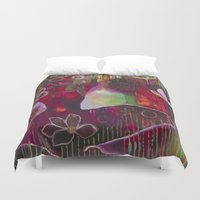 "flora bowley Duvet Covers featuring ""Surrender"" Original Painting by Flora Bowley by Flora Bowley"