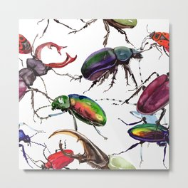 Beetles, Bugs, and Creepy Insects Metal Print
