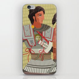 alexander the great mosaic riding a horse iPhone Skin