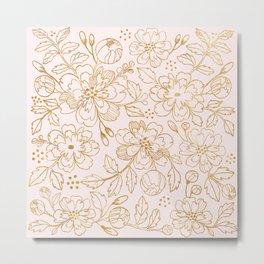 Gold Roses Metal Print