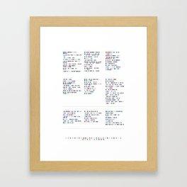L e d  Z e p p e l i n  Discography - Music in Colour Code Framed Art Print