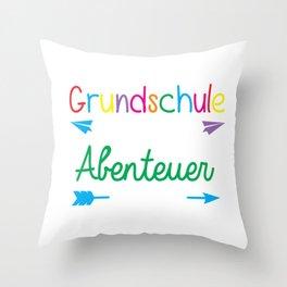Preschool where the adventure starts, no kindergarden anymore Throw Pillow