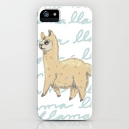 Llama Be My Best iPhone Case