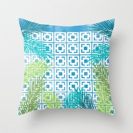 Patios and Palms No. 1 Throw Pillow