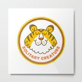 Solitary Creature | Happy Tiger Metal Print