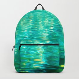 Blue Green Water Backpack