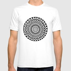 Sun in B&W Mens Fitted Tee White SMALL