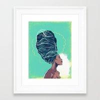 erykah badu Framed Art Prints featuring Erykah Badu by Dushan Milic