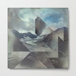 Mountains Glacier - Cuts Metal Print