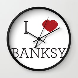 I heart Banksy Wall Clock