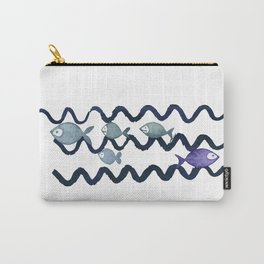 Against the Current - Maritime Simple Fish Design Carry-All Pouch