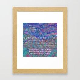 gaunt horse Framed Art Print