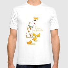 My little friends Mens Fitted Tee MEDIUM White