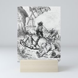 Don Quixote and Sancho Panza Mini Art Print
