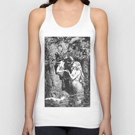 The Nymph Caught the Dryad in Her Arms - HR Millar (1904) Unisex Tank Top