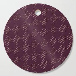 Burgundy checkered pattern Cutting Board