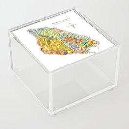 Mackinac Island Illustrated Map Acrylic Box