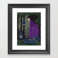 There is a Place in the Woods... Framed Art Print