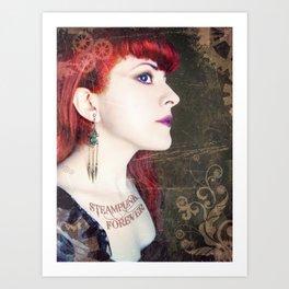 Steampunk Forever Art Print