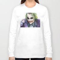 the joker Long Sleeve T-shirts featuring Joker  by Olechka