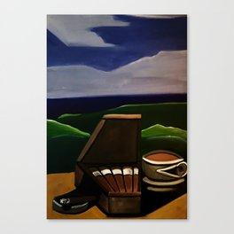 Los Puros y Cafe Canvas Print