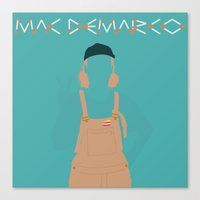 mac Canvas Prints featuring Mac Demarco by eegggoo