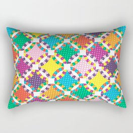 Rainbow Quilt 5 Rectangular Pillow