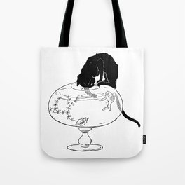 """Théophile Steinlen """"Cats: Pictures without Words (Cat and fishbowl)"""" (2) Tote Bag"""