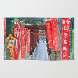 Shinto shrine entrance Rug