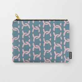 decorative chain ornament pattern pink blue Carry-All Pouch