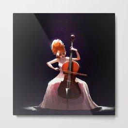 The Cello Player Metal Print