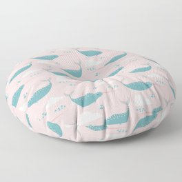 Narwhal pink Floor Pillow