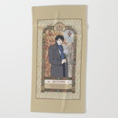 Sherlock Victorian Language of Flowers - Autumn Beach Towel