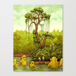 Please Don't Feed The Wildlife Canvas Print