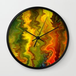 Colorful Thoughts by rafi talby Wall Clock