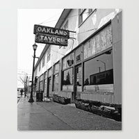 oakland Canvas Prints featuring Oakland Tavern by Vorona Photography