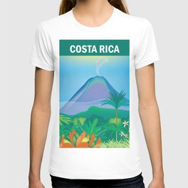 Costa Rica - Skyline Illustration by Loose Petals T-shirt
