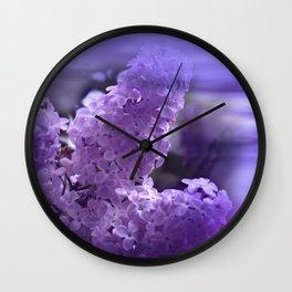 dreaming of lilacs Wall Clock