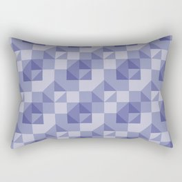 Slate Blue Geometric Rectangular Pillow