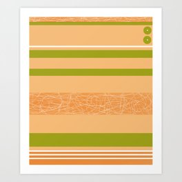 spring gold and green LEGGINGS, new PATTERN Art Print