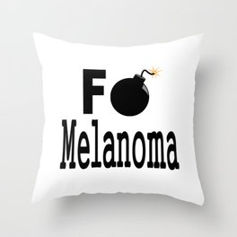 F Bomb Melanoma Throw Pillow
