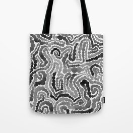 Gray Painting Tote Bag