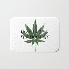 Don't Panic It's Organic Vintage Cannabis Print Bath Mat