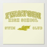 iwatobi Canvas Prints featuring Iwatobi - Penguin by drawn4fans